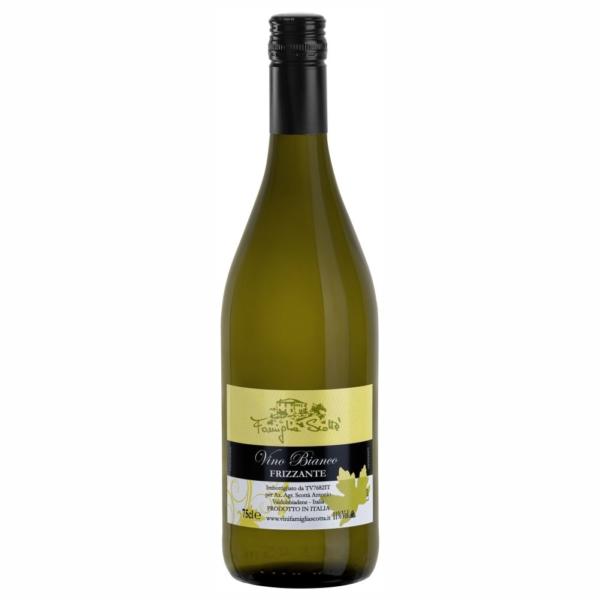 Vino bianco frizzante tappo vite