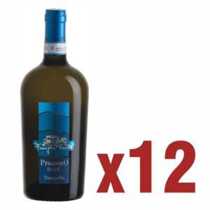 12 bottiglie prosecco tranquillo